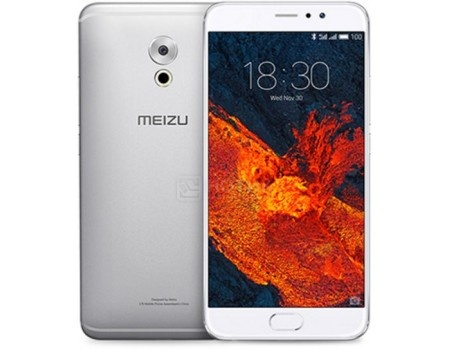 Смартфон Meizu Pro 6 Plus 64Gb Silver White (Android 6.0 (Marshmallow)/Exynos 8890 2000MHz/5.7 2560х1440/4096Mb/64Gb/4G LTE ) [MZU-M686H-64-GB] смартфон sony xperia x compact white android 6 0 marshmallow msm8956 1800mhz 4 6 1280x720 3072mb 32gb 4g lte [f5321white]