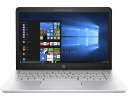 Фотография товара ноутбук HP Pavilion 14-bk006ur (14.0 IPS (LED)/ Core i3 7100U 2400MHz/ 6144Mb/ HDD+SSD 1000Gb/ Intel HD Graphics 620 64Mb) MS Windows 10 Home (64-bit) [2CV46EA] (53047)