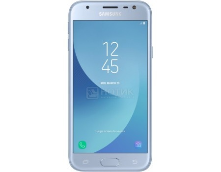 "Фотография товара смартфон Samsung Galaxy J3 2017 SM-J330F Blue (Android 7.0 (Nougat)/Exynos 7570 1400MHz/5.00"" 1280x720/2048Mb/16Gb/4G LTE ) [SM-J330FZSDSER] (53130)"