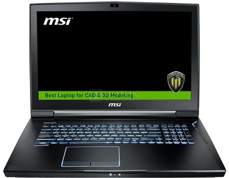 Ноутбук MSI WT73VR 7RM-817RU (17.3 IPS (LED)/ Core i7 7820HK 2900MHz/ 32768Mb/ HDD+SSD 1000Gb/ NVIDIA Quadro P5000 16384Mb) MS Windows 10 Professional (64-bit) [9S7-17A131-817]
