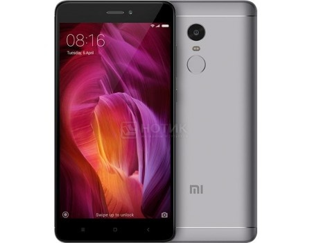 Смартфон Xiaomi Redmi Note 4 64Gb Gray (Android 6.0 (Marshmallow)/MSM8953 2000MHz/5.5