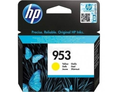 Картридж HP 953 Yellow Ink для HP OJP 8710, 8715, 8720, 8730, 8210, 8725, Желтый F6U14AE 700стр
