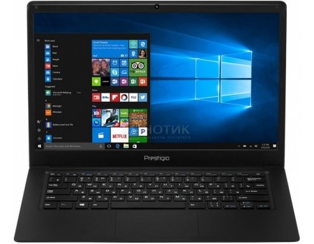 Ноутбук Prestigio SmartBook 141C (14.1 IPS (LED)/ Atom Z8350 1440MHz/ 2048Mb/ SSD / Intel HD Graphics 400 64Mb) MS Windows 10 Home (64-bit) [PSB141C01BFH_BK_CIS]