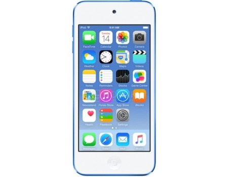 Фотография товара портативный цифровой плеер Apple iPod touch 6 128Gb, MKWP2RU/A, Blue, Синий (54161)