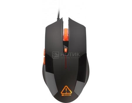 Фотография товара мышь проводная Canyon Gaming Mouse, 2400dpi, USB, Черный/ Оранжевый Vigil CND-SGM2 (54173)