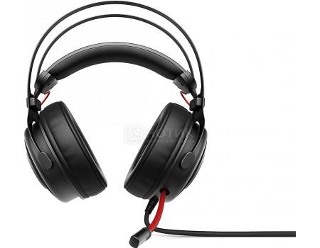 Фотография товара гарнитура проводная HP OMEN 800 Headset Black/Red, Черный/Красный 1KF76AA (54224)