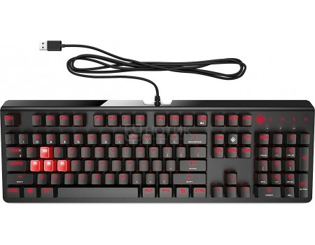 Клавиатура проводная HP OMEN 1100 Keyboard, USB, Черный 1MY13AA