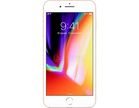 "Фотография товара смартфон Apple iPhone 8 Plus 64Gb Gold (iOS 11/A11 Bionic 2400MHz/5.5"" 1920x1080/3072Mb/64Gb/4G LTE ) [MQ8N2RU/A] (54259)"