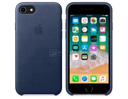 Чехол-накладка Apple Leather Case Midnight Blue для iPhone 8 / 7 MQH82ZM/A, Кожа, Темно-синий