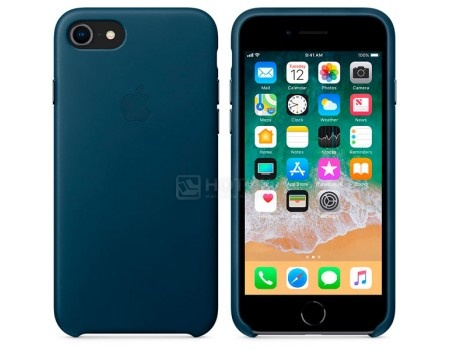 Чехол-накладка Apple Leather Cosmos Blue для iPhone 8 / 7 MQHF2ZM/A, Кожа, Синий, арт: 54297 - Apple