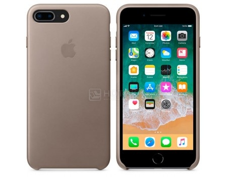 Чехол-накладка Apple Leather Case Taupe для iPhone 8 Plus / 7 Plus MQHJ2ZM/A, Кожа, Светло-серый