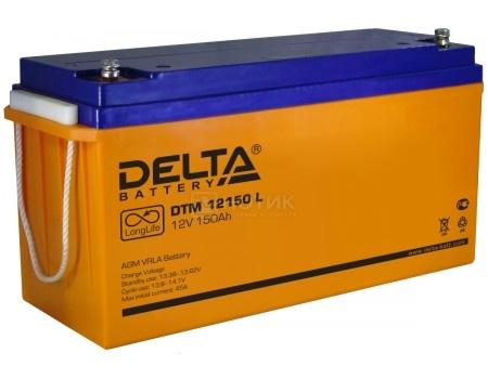 Фотография товара аккумулятор для ИБП Delta DTM 12150 L, 12V / 150Ah (150 000mAh) (54460)