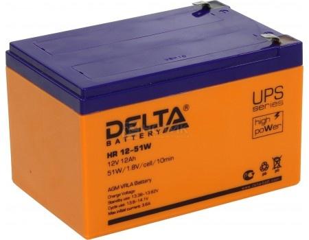 Аккумулятор для ИБП Delta HR 12-51W 12V / 12Ah (12 000mAh), арт: 54475 - Delta