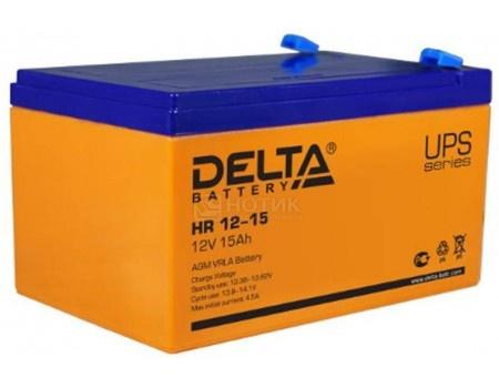 Фотография товара аккумулятор для ИБП Delta HR 12-15 12V / 15Ah (15 000mAh) (54476)