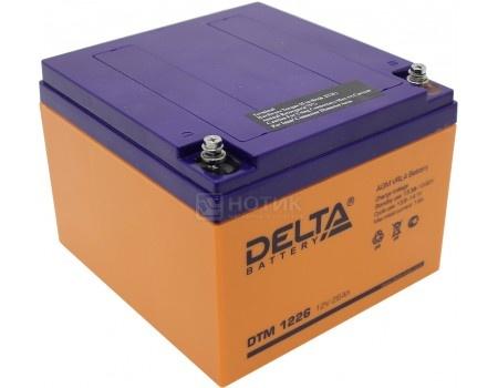 Фотография товара аккумулятор для ИБП Delta DTM 1226, 12V / 26Ah (26 000mAh) (54516)
