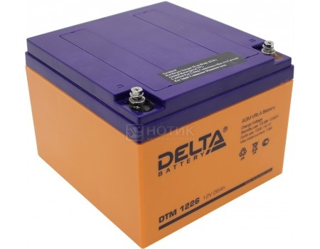 Аккумулятор для ИБП Delta DTM 1226, 12V / 26Ah (26 000mAh), арт: 54516 - Delta