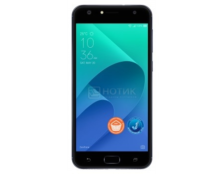 Смартфон ASUS Zenfone 4 Selfie ZD553KL-5A102RU Deepsea Black (Android 7.0 (Nougat)/MSM8937 1400MHz/5.5* 1280x720/4096Mb/64Gb/4G LTE ) [90AX00L1-M01490], арт: 54528 - ASUS
