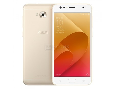 "Смартфон ASUS Zenfone 4 Selfie ZD553KL-5G103RU Sunlight Gold (Android 7.0 (Nougat)/MSM8937 1400MHz/5.5"" 1280x720/4096Mb/64Gb/4G LTE ) [90AX00L2-M01500]"