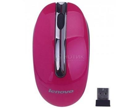 Мышь беспроводная Lenovo N3903 1200dpi, Rose Red, Розовый/Красный, GX30N72250, арт: 54618 - Lenovo