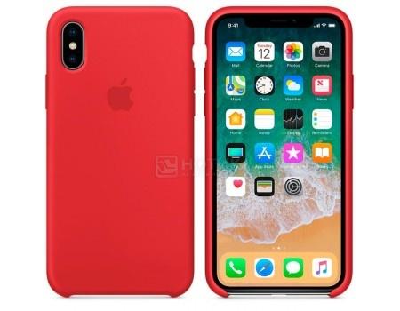 Чехол-накладка Apple Silicone Case Red для iPhone X MQT52ZM/A, Силикон, Красный
