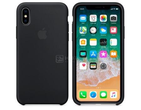 Чехол-накладка Apple Silicone Case Black для iPhone X MQT12ZM/A, Силикон, Черный