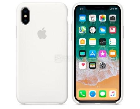Чехол-накладка Apple Silicone Case White для iPhone X MQT22ZM/A, Силикон, Белый