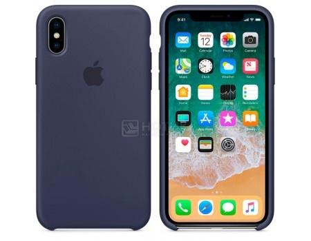Чехол-накладка Apple Silicone Case Midnight Blue для iPhone X MQT32ZM/A, Силикон, Темно-синий