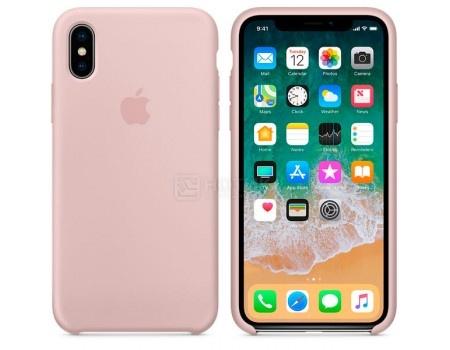 Чехол-накладка Apple Silicone Case Pink Sand для iPhone X MQT62ZM/A, Силикон, Бледно-розовый, арт: 54665 - Apple