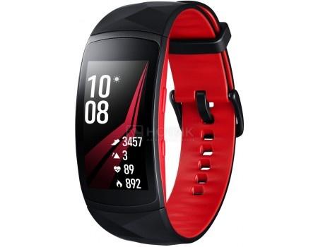 Смарт-часы Samsung Galaxy Gear Fit 2 Pro SM-R365(L), 200 мAч, Черный/Красный SM-R365NZRASER
