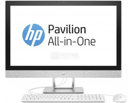 Моноблок HP Pavilion 27-r009ur (27.0 IPS (LED)/ Core i5 7400T 2400MHz/ 8192Mb/ Hybrid Drive 1000Gb/ AMD Radeon 530 2048Mb) MS Windows 10 Home (64-bit) [2MJ69EA]