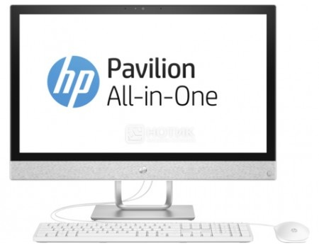 Фотография товара моноблок HP Pavilion 24-x006ur (23.8 IPS (LED)/ Core i5 7400T 2400MHz/ 8192Mb/ Hybrid Drive 1000Gb/ Intel HD Graphics 630 64Mb) MS Windows 10 Home (64-bit) [2MJ57EA] (54719)
