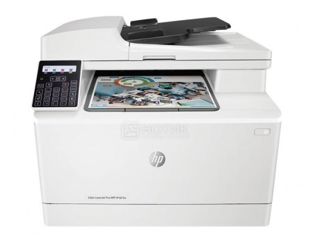 МФУ лазерное цветное HP Color LaserJet Pro M181fw A4 16/16 стр/мин 128Мб LAN USB Wi-Fi Факс Белый T6B71A