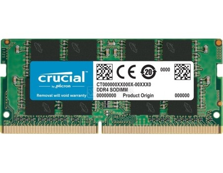 Модуль памяти Crucial SO-DIMM DDR4 4096Mb PC4-17000 2133MHz 1.2V, CL15, CT4G4SFS8213 от Нотик