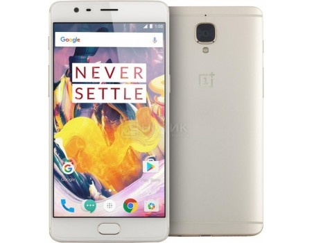 "Смартфон OnePlus 3T 64Gb Soft Gold (Android 6.0 (Marshmallow)/MSM8996 2350MHz/5.5"" 1920x1080/6144Mb/64Gb/4G LTE ) [0101090211] от Нотик"