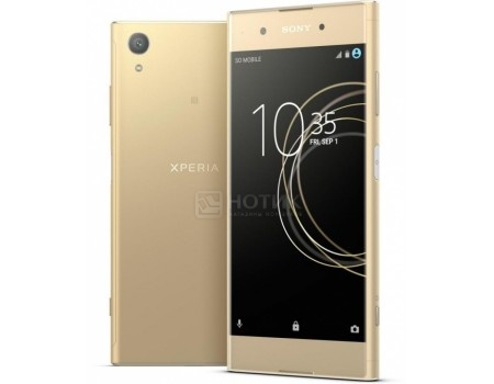 Смартфон Sony Xperia XA1 Plus Dual Gold (Android 7.0 (Nougat)/MT6757 2300MHz/5.5* 1920x1080/4096Mb/32Gb/4G LTE ) [G3412Gold], арт: 55337 - Sony