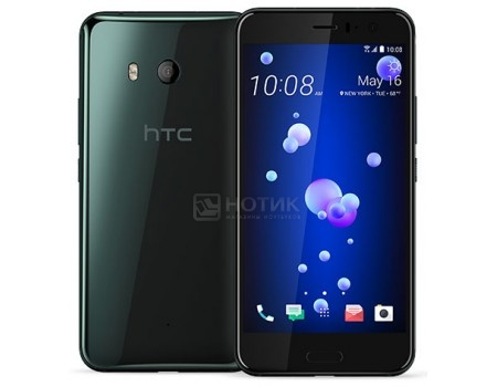 Смартфон HTC U11 Brilliant Black 64Gb (Android 7.1 (Nougat)/MSM8998 2450MHz/5.5