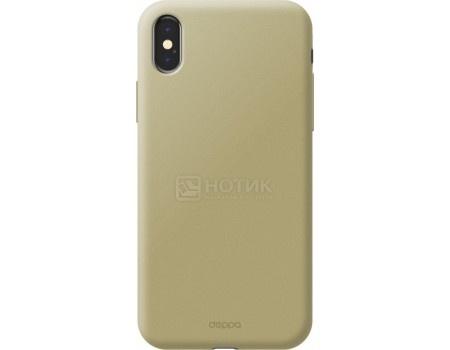 Фотография товара чехол-накладка Deppa Air Case 1мм для iPhone X , Поликарбонат, Золотистый 83322 (55379)