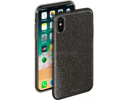 Фотография товара чехол-накладка Deppa Chic Case 0.8мм для iPhone X , Полиуретан, Черный 85339 (55383)