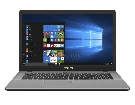 Ноутбук ASUS VivoBook Pro 17 N705UD-GC135R (17.3 IPS (LED)/ Core i7 8550U 1800MHz/ 16384Mb/ HDD+SSD 1000Gb/ NVIDIA GeForce® GTX 1050 4096Mb) MS Windows 10 Professional (64-bit) [90NB0GA1-M02150]
