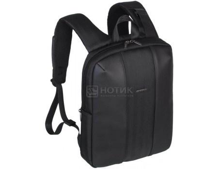 """Фотография товара рюкзак 14"""" RivaCase 8125 black, Полиуретан/Полиэстер, Черный (55594)"""