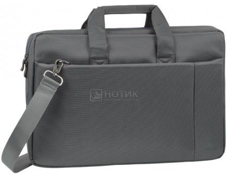 """Фотография товара сумка 17,3"""" RivaCase 8251 grey, Полиэстер, Серый (55598)"""