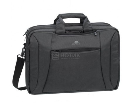 "Сумка-трансформер 16"" RivaCase 8290 charcoal black, Полиэстер, Черный, арт: 55599 - RivaCase"