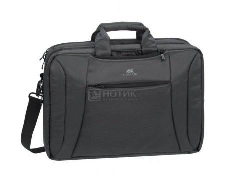 """Фотография товара сумка-трансформер 16"""" RivaCase 8290 charcoal black, Полиэстер, Черный (55599)"""