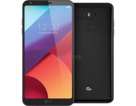 "Фотография товара смартфон LG G6 H870 32Gb Black (Android 7.0 (Nougat)/MSM8996 2350MHz/5.7"" 2880x1440/4096Mb/32Gb/4G LTE ) [LGH870S.ACISBK] (55766)"