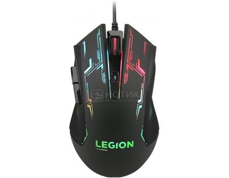 Фотография товара мышь проводная Lenovo Legion M200 RGB Gaming Mouse, 2400dpi, Черный, GX30P93886 (55871)