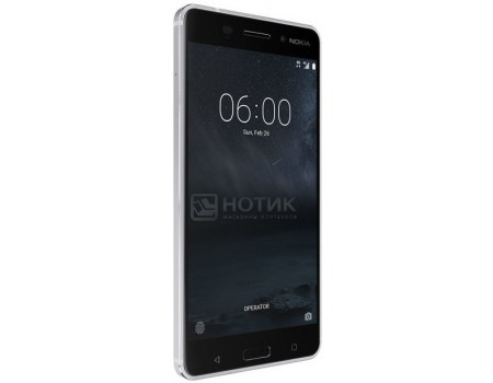 Смартфон Nokia 6 32Gb Silver (Android 7.1 (Nougat)/MSM8937 1400MHz/5.5* 1920x1080/3072Mb/32Gb/4G LTE ) [11PLES01A12], арт: 56135 - Nokia