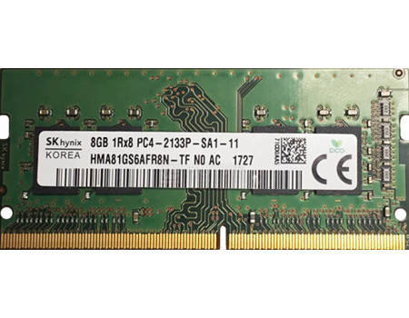 Картинка для Модуль памяти Hynix SO-DIMM DDR4 8192Mb PC4-17000 2133MHz 1.2V, CL15, HMA81GS6AFR8N-TF