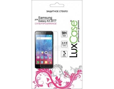 Защитное стекло LuxCase для смартфона Samsung Galaxy A3 2017 (Стекло 2.5D Черная Рамка), Прозрачный 77808