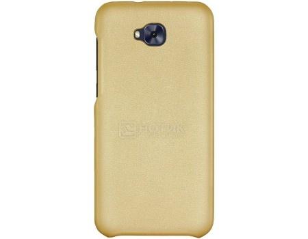 Фотография товара чехол-накладка G-Case Slim Premium для смартфона ASUS ZenFone 4 Selfie ZD553KL, Искусственная кожа, Золотистый GG-880 (56175)
