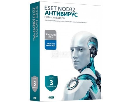 Программный продукт ESET NOD32 Smart Security Platinum Edition DRMC-NOD32-ESS-NS-BOX-2-1 лицензия на 2 года + 2 лицензии